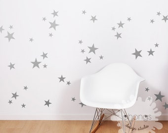 3 Size Star Wall Decal / Star Decal / Gold stars decal / 69 Stars Pattern Wall Decal / Kids Room Decal / Nursery decal / Home Decor,gift
