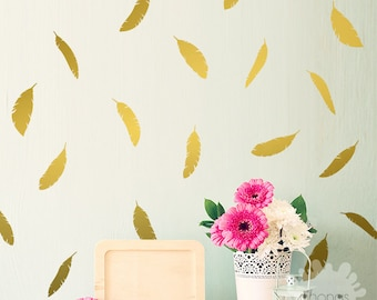 Feather Wall Decal / 72 Feathers Sticker / Home decor / Office Decor / Nursery Wall Decal / gift