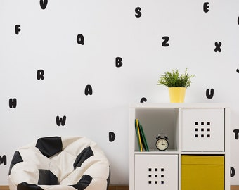 Alphabet decal / ABC Decal / Letter Wall Decal / Kids Room Decal / Nursery decal / Home Decor / gift