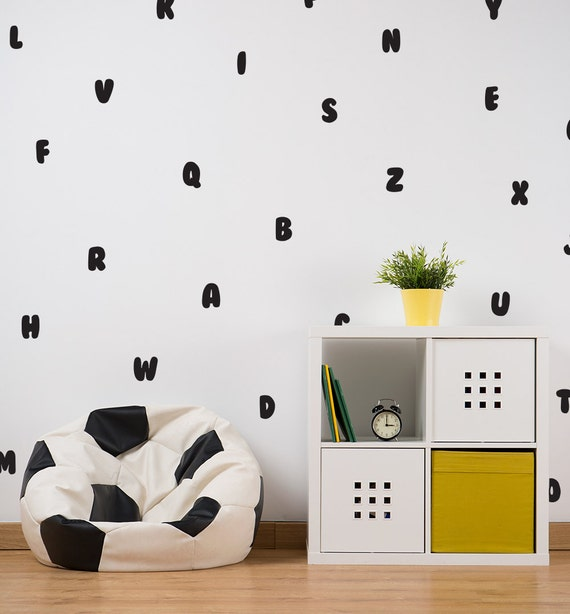 Alphabet Decal / ABC Decal / Letter Wall Decal / Kids Room | Etsy