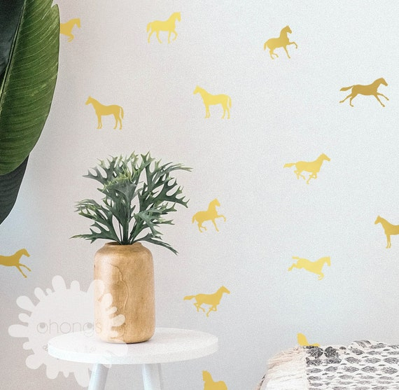 A room with horses/ horse wall decal / 7 different horses / Kids Room Decal / Nursery decal / Home Decor / gift / custom