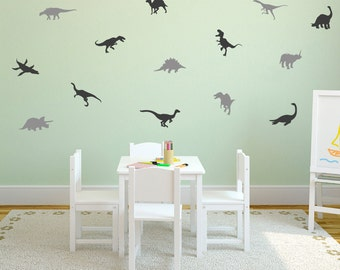 Dinosaur Wall Decal /  Dinosaurs wall Decal / Dino decal / background /  modern wall decal / gift