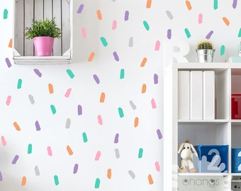 paint wall decal / 5 color brush Decals / Custom kids room / Nursery decal / Home Decor / removable vinyl/ make your own / gift