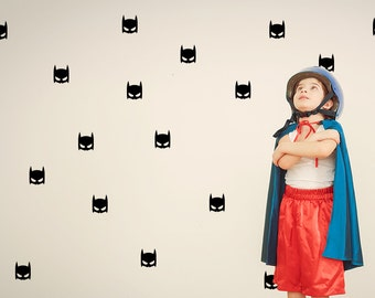 Hero Mask Wall Decal / Super Hero Wall Decal / Mask Wall Decal / Boys Room Sticker / Kids Wall Decal / Children's Room Decal