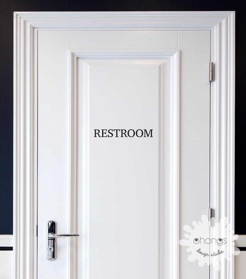 Pantry   Door Sign  Pantry Door Decal  Restroom Decal  Office Sticker  Door Letters Custom Letter Decal