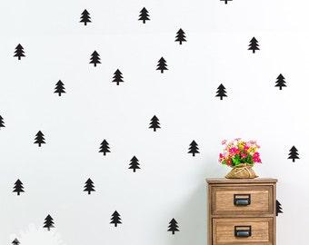 Pine Tree Wall Decal / Christmas Tree Sticker / Holiday decoration / Custom Kids wall / Home Decor / Modern Wall / removable vinyl / gift