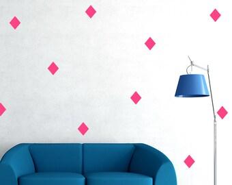 Diamond Wall Decal /  Diamond shape wall Decals / custom living room / background /  modern custom kids room / special bedroom / gift