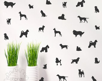 A room with dogs/ Dog wall decal / doggie Decal / 36 dogs Pattern Wall Decal / Kids Room Decal / Nursery decal / Home Decor / gift