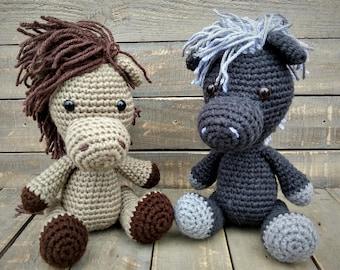 Crochet Horse Pattern | Gehaakte dieren patronen, Gehaakte ... | 270x340