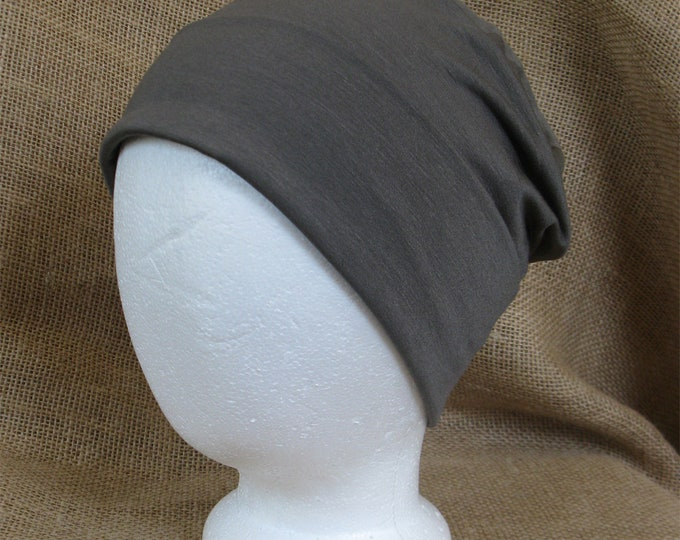 Bamboo Olive Summer Chemo Hat - Chemo Cap Men or Womens Cancer Headwear and Slouch Beanie