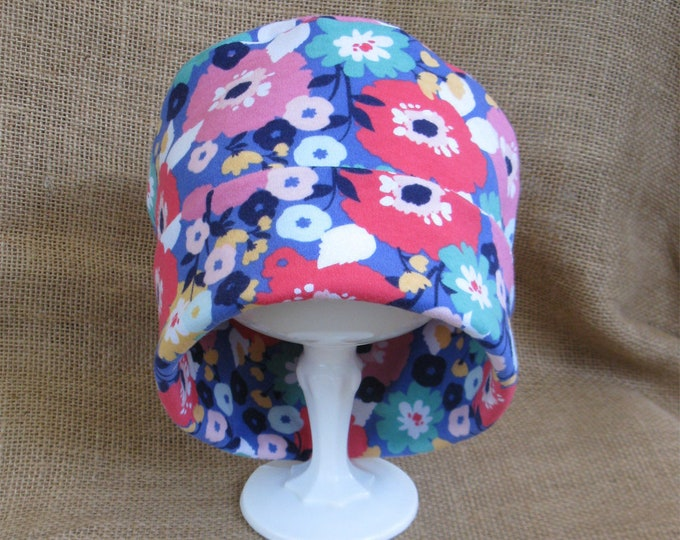 Chemo Poppy Flower Hat for Cancer Patients 100 Percent Soft Cotton Floral Chemo Cap Chemo Headwear