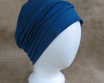 Bamboo Chemo Cap - Dark Teal Chemo Hat Womens Beanie Slouch Hat Cancer Headwear