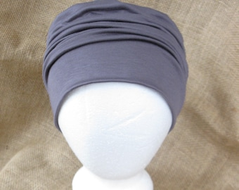 Bamboo Chemo Cap Headwear for Men or Women- Soft Pastel Sage, Sand, Toffee, Teal or Black, Chemo Hat for Cancer Headwear and Slouch Beanie