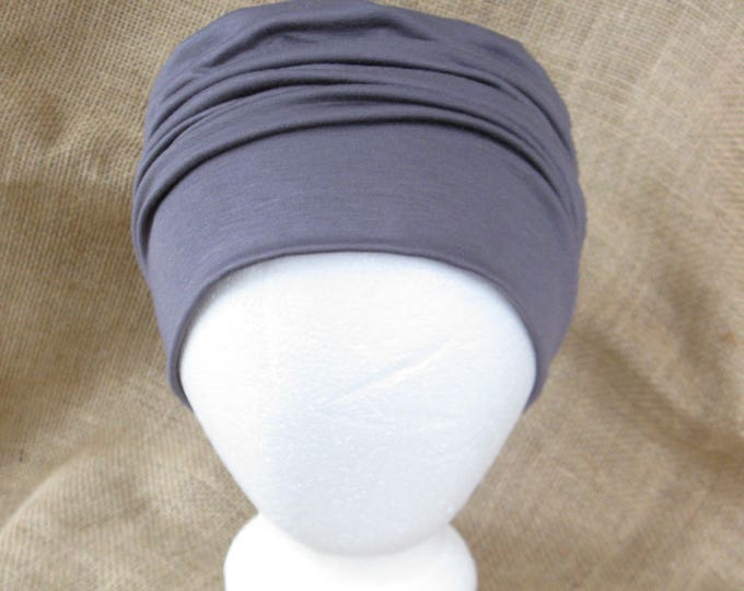 Bamboo Chemo Hat - Charcoal Gray Chemo Headwear for Men or Women