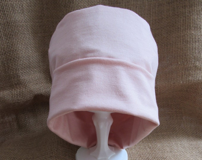 Bamboo Summer Peach Chemo Cap - Womens Chemo Hat Cancer Headwear and Slouch Beanie