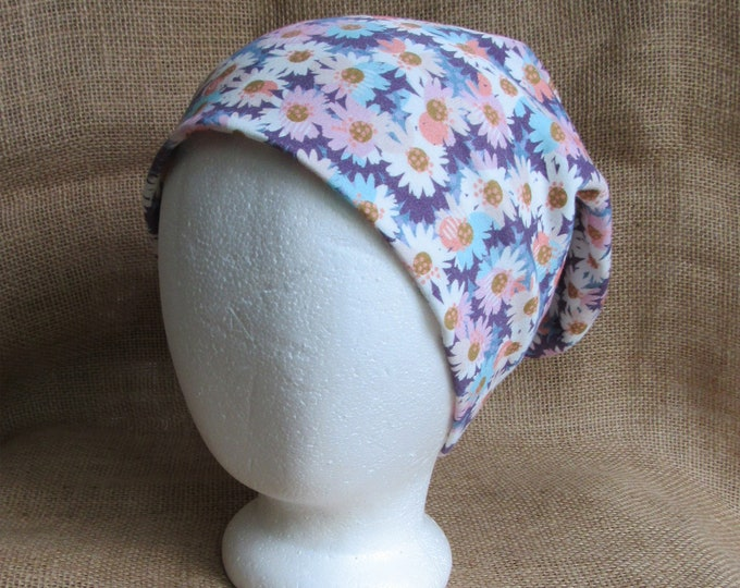 Daisy Flower Hat All Natural 100% Cotton Beanie GOTS Certified Eco and Earth Friendly
