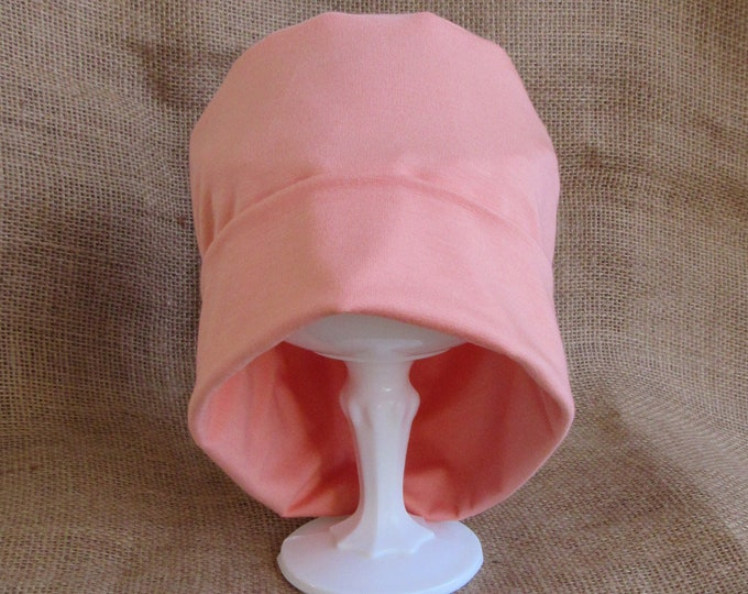 Bamboo Chemo Cap - Coral Citrus Chemo Hat Womens Beanie Slouch Hat Cancer Headwear