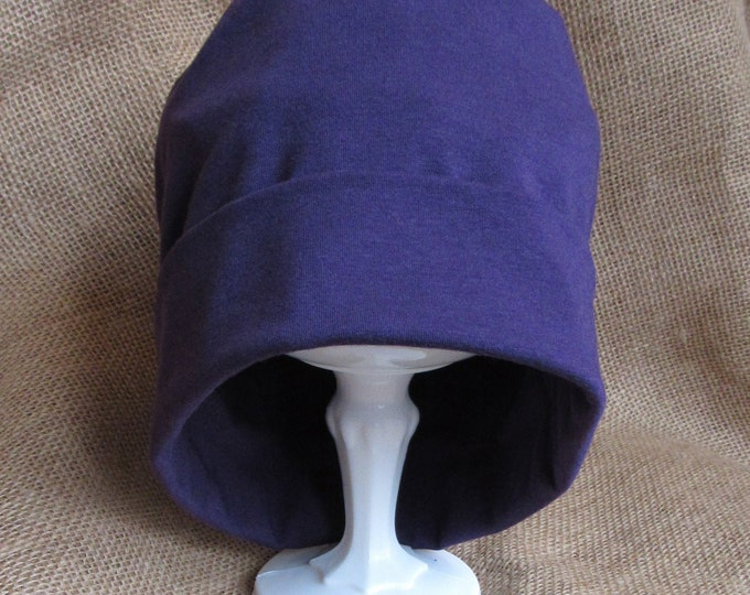 Bamboo Chemo Hat - Purple Plum Chemo Headwear for Men or Women