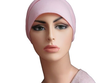 Summer Pink Bamboo Organic Chemo Cap - Chemo Hat Womens Cancer Headwear and Slouch Beanie