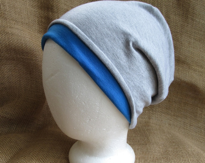 Create Your Own Hat Reversible Bamboo Slouchy Beanie Pick Your Colors and Size for Men or Women
