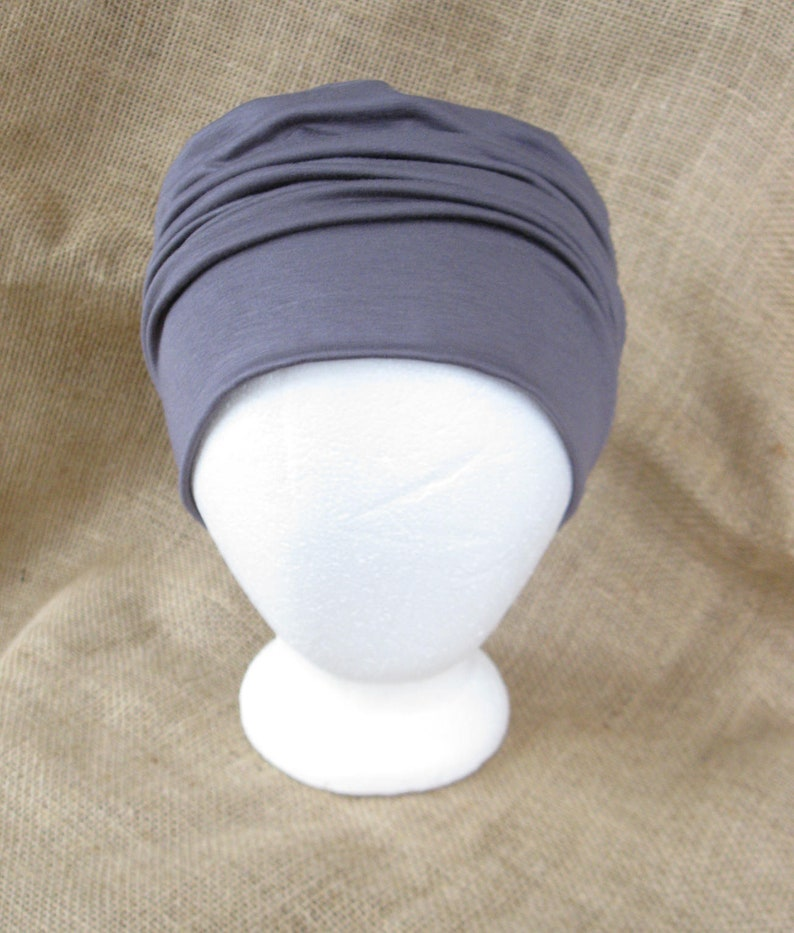 Bamboo Chemo Cap Headwear for Men or Women Soft Pastel Sage image 0