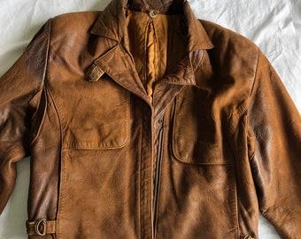 Amelia Earhart Bomber Jacket Fully Lined Lambs Leather
