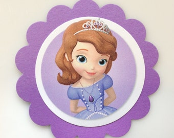 SOFIA THE FIRST Gift Tags & Cupcake Toppers (12ct)