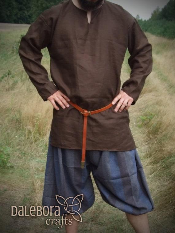 Voorkeur Vroege middeleeuwse linnen hemd Birka historische patroon | Etsy &LR43
