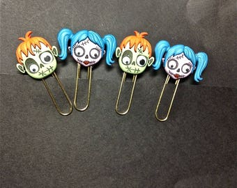 Planner Accessories, Paper Clips, Zombie Couples