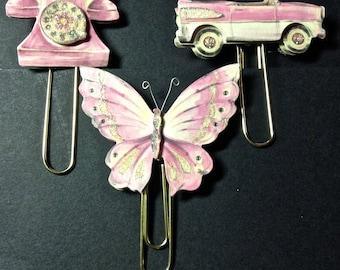 Paper Clip Embellishments, Planner Accessories