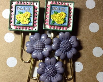 Planner Accessories, Paper Clips, Flowers