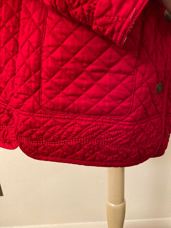 Reversible red quilted jacket - image 2