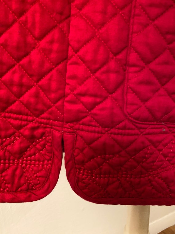 Reversible red quilted jacket - image 4