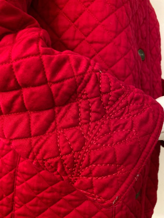 Reversible red quilted jacket - image 3