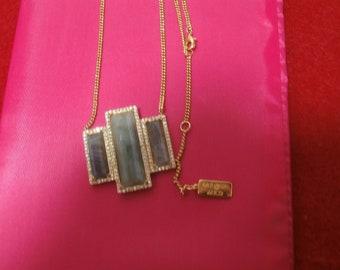 Vintage signed Melanie Auld Pavestone and Quartz Necklace