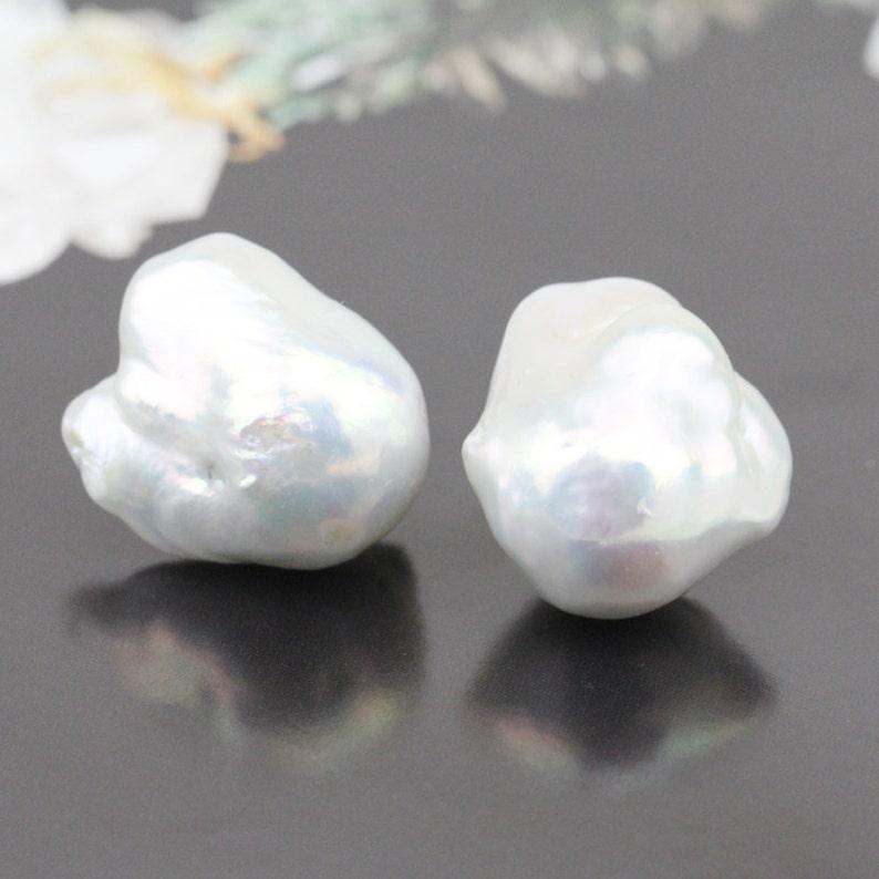 Baroque pearl stud earrings,big jumbo large baroque pearl earrings,white flameball pearl earrings,huge fireball pearl earings,mother gift