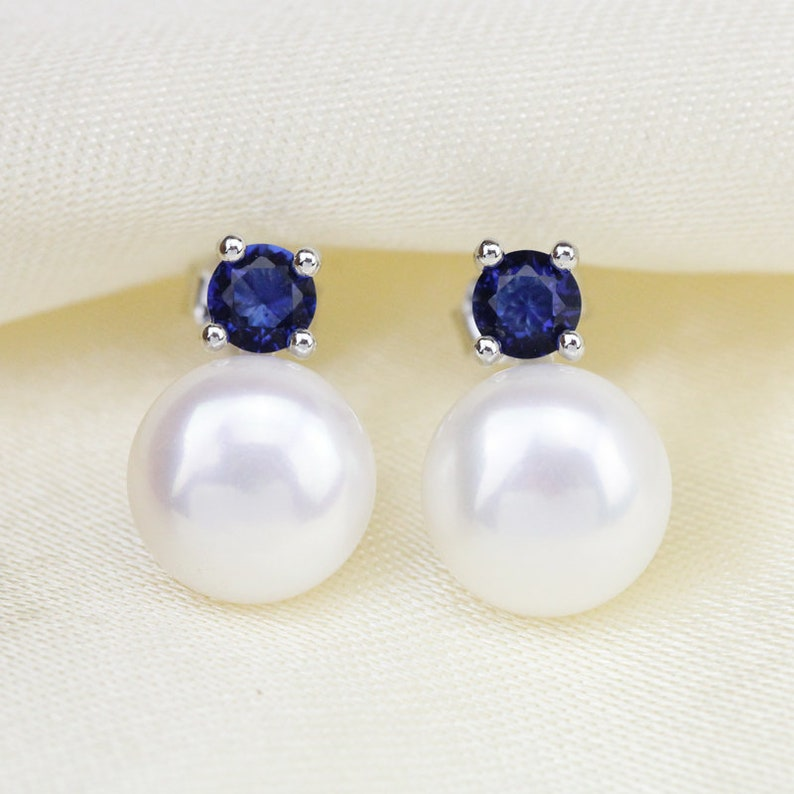 a5df08cf50c Bleu zircon perles Boucles doreilles boucles doreilles