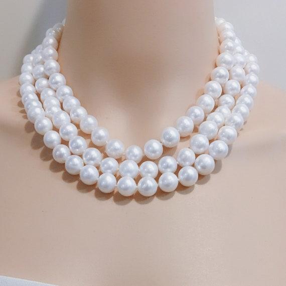 6-7 Mm Blanc Ivoire près de ronde pomme de terre d/'eau douce Perles Perles Fabrication de Bijoux