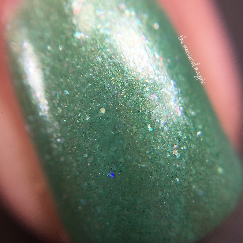 Cerealia  5 ml mini  light silvery green with silver glass image 0