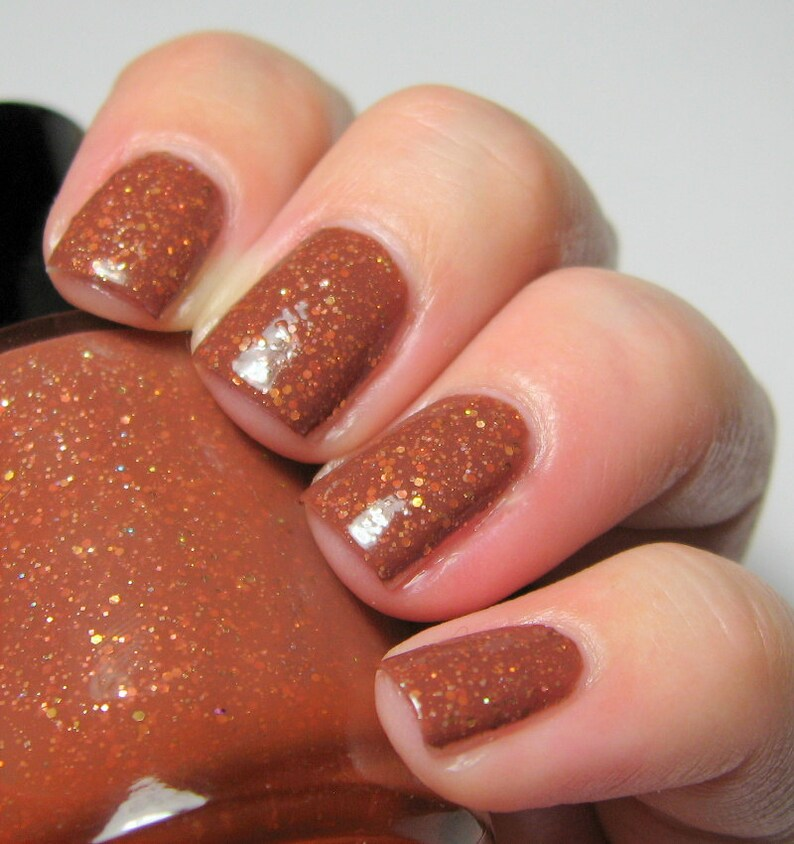 Equus October  5 ml mini  chestnut brown crelly with gold image 0