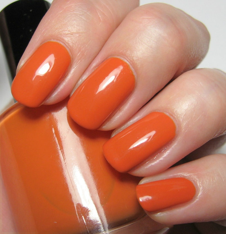 My Sharona  15 ml  pumpkin orange creme  indie polish by image 0