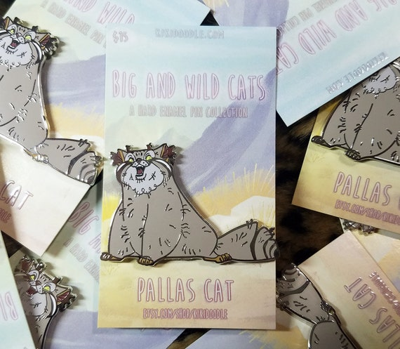 Big and Wild Cats: Pallas Cat Silver hard Enamel Pin 2