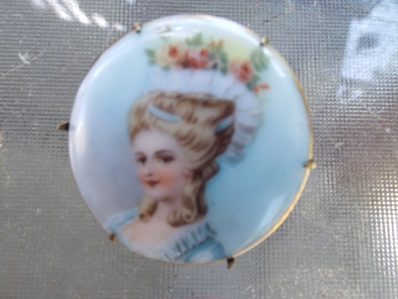 Fabulous Antique Limoges Hand Painted -Limoges Po… - image 2