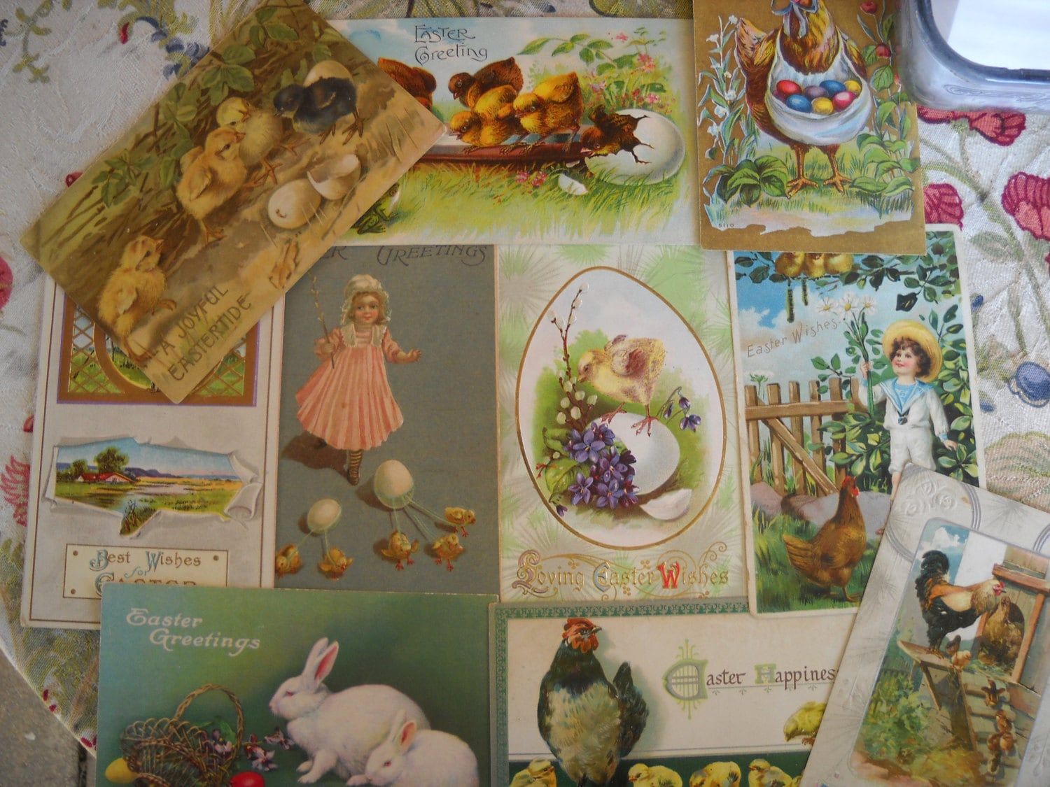 10 Fabulous Victorian German Easter Postcards Victorian Etsy