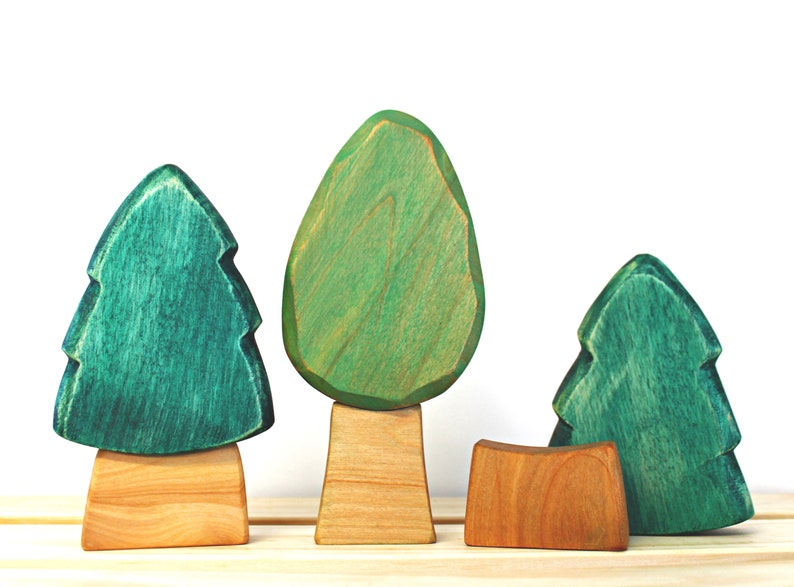 Trees of the forest wooden toy baby's room decoration image 0