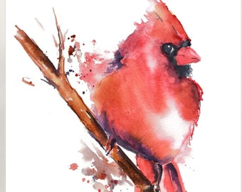 BIRDS  Watercolor Print Wedding Gift Fine Art Print Children/'s Wall Decor Art