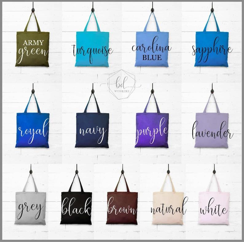 Bachelorette Gift Bachelorette Party Favors Bridesmaid Tote Bag Bridesmaid Survival Kit Bag Purple Canvas Tote Bag for Bridesmaid Gift
