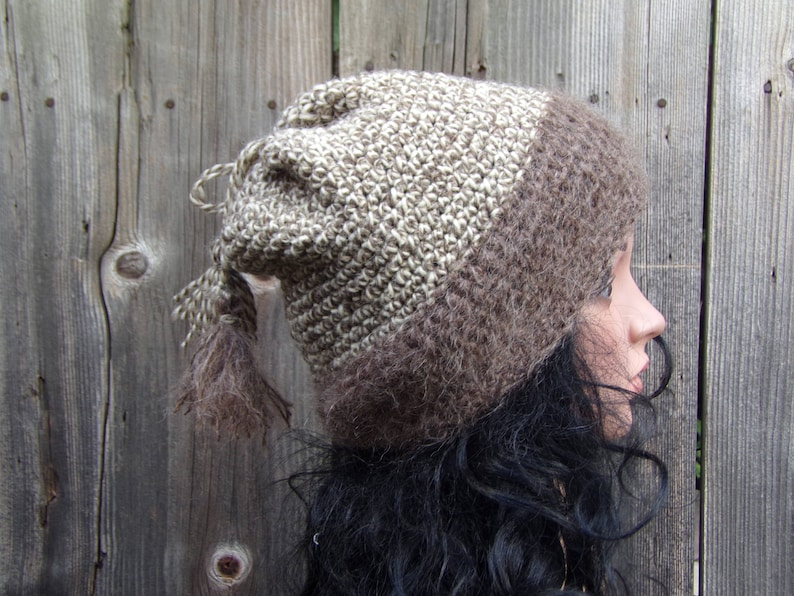 Oversized Slouch Hat Chunky Knit Hat Knit Beanie Grunge Beanie Slouch Beanie Hat Wool /& Mohair Slouchy Women Hat Oversized Beanie