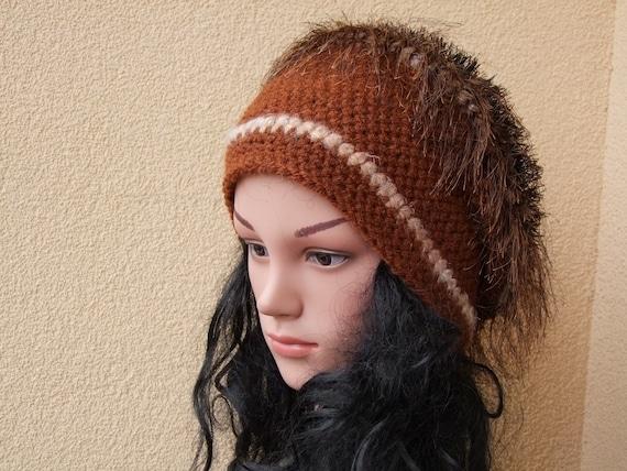 9155e9d5ed7 Tams Women Hat Alpaca Wool Hand Knitted Hat Crochet Beanie