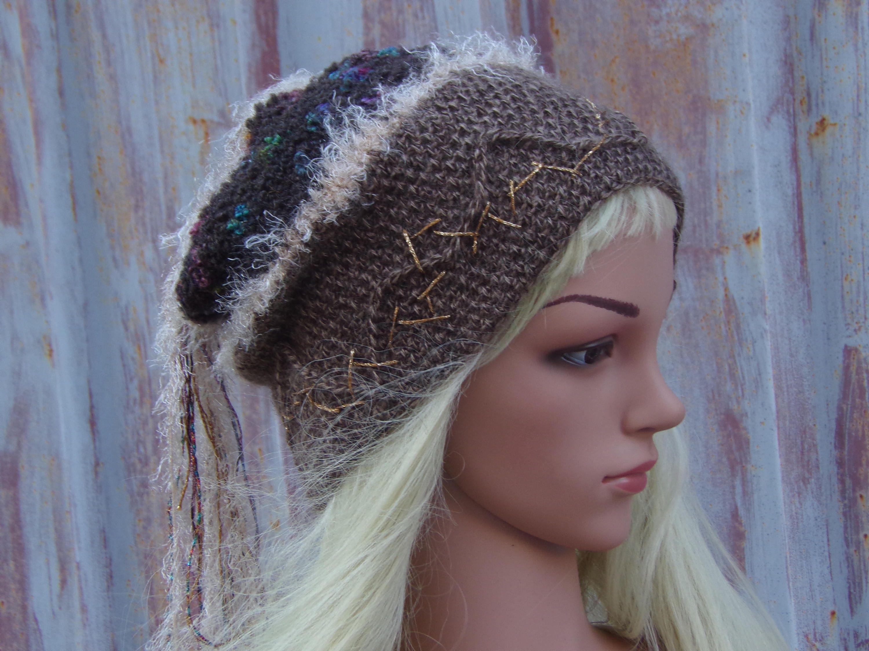 Wool Slouchy Beanie Hat Crochet Beanie Mohair Hat Best  661b1438b6a